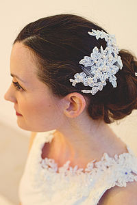 Beaded Lace Comb - wedding fashion