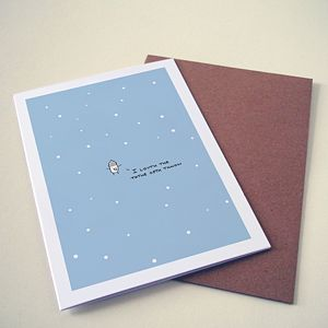 'I Loveth The Thathe Oth Thnow' Card - cards