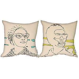 Odd Couple Cushions Set - patterned cushions