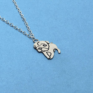 Sterling Silver Pug Charm Necklace - necklaces & pendants