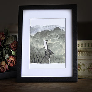 Bunny And The Moon Print