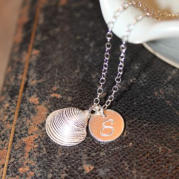 Personalised Clam Shell Necklace