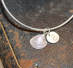 Personalised Clam Shell Bangle - bracelets & bangles