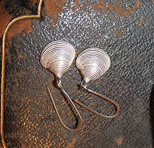 Clam Shell Earrings - earrings