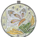 Small Butterfly Mirror Compact