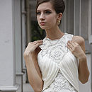 Hand Embroidered Ivory Column Wedding Dress