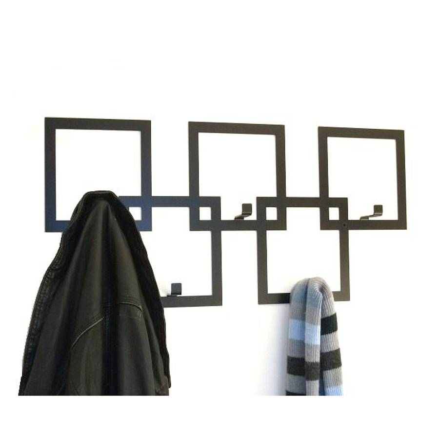 Squares coat rack by the metal house limited for Contemporary coat hooks