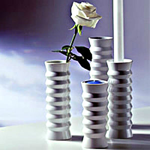 Concertina Vase And Candle Holder In One