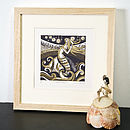 Zennor Mermaid Relief Or Letterpress Print