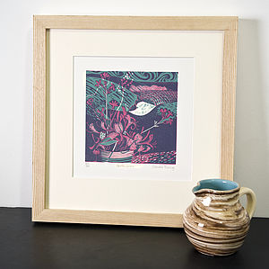 Porthcurno Relief Or Letterpress Print - pictures, prints & paintings
