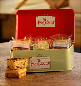 Gift Tin containing Gluten Free Cakes - teatime