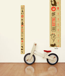 Height Chart, Wall Sticker, 'Taller Than' Pvc Free - wall stickers