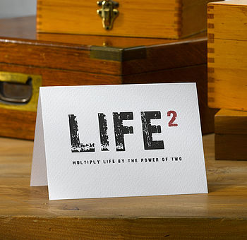 Typographic 'Life' Card