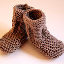 Hand Knit Cable Bootie