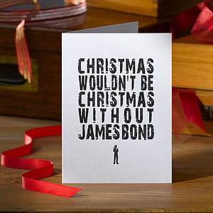 Pack Of Four James Bond Christmas Cards