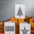 Pack of 24 Mixed Typographic Print Christmas Cards