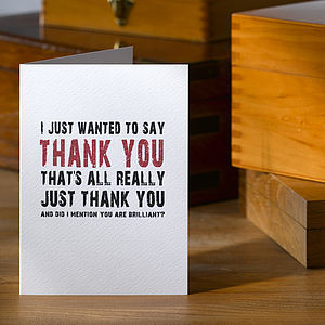 Typographic Thank You Card - summer sale