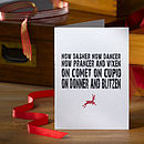 Pack Of Four Reindeer Christmas Cards
