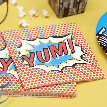 Superhero Pop Art Paper Napkins