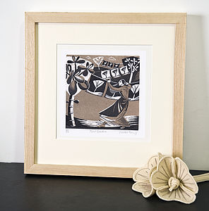 Print Garden Relief Or Letterpress Print - pictures, prints & paintings