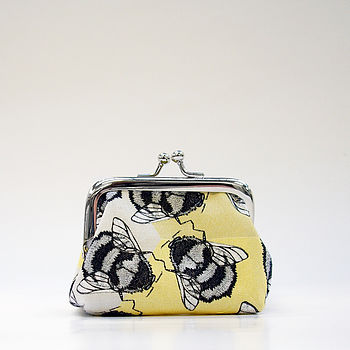 Yellow Bumble Bee Coin Purse