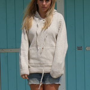 Women's Hand Knitted Hooded Jumper - women's fashion