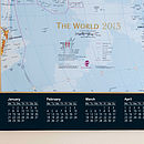 Laminated World Map 2015 Calendar