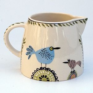 Birdlife Milk Jug