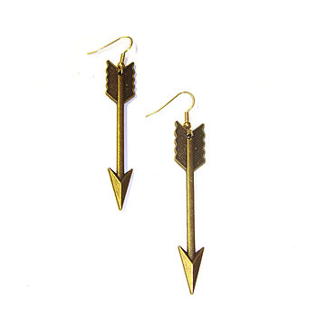 Bronze Arrow Earrings