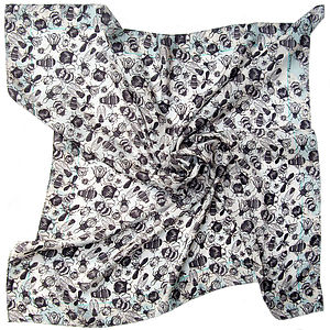 Essaim Bug Square Silk Scarf - scarves