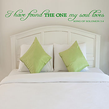 My Soul Loves Wall Sticker Quote Uk