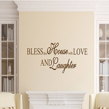 Bless This House Wall Quote Sticker From Uk