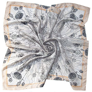 Masses De Spores Square Silk Scarf - purses & wallets