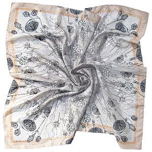 Masses De Spores Square Silk Scarf - bags & purses