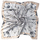 Masses De Spores Square Silk Scarf