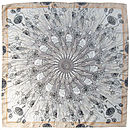 Masses De Spores | Mushroom Square Silk Scarf