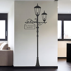 Personalised London Lamp Post Wall Sticker - wall stickers