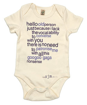 'Old Person' Baby Grow