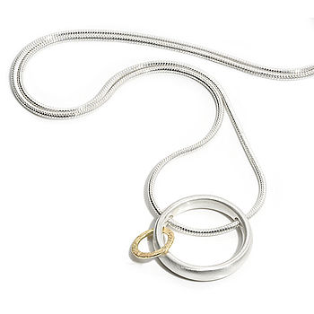 Silver And Gold Orbit Pendant