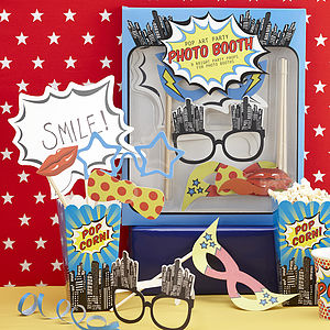 Superhero Pop Art Photo Booth Props - children's parties