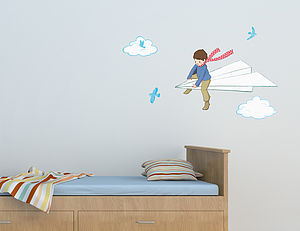 My Paper Plane Wall Sticker - children's room accessories