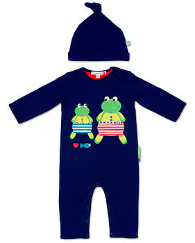 Franny And Franco Playsuit And Hat Set