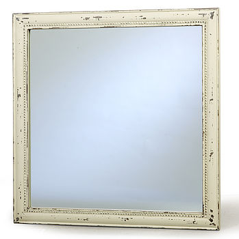 Square Distressed Mirror By Nordal