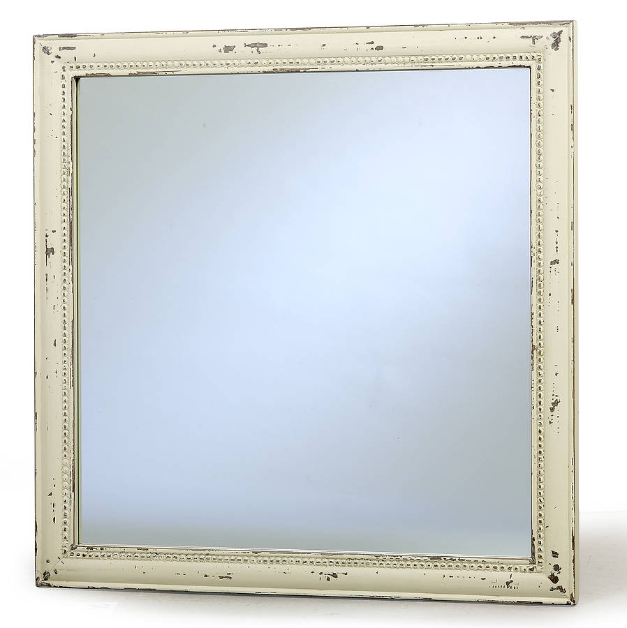 Square distressed mirror by nordal by bell blue for Square mirror