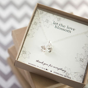 'Love Blossom' Sterling Silver Necklace