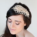 Autumn Bouquet Asymmetric Bridal Headband
