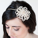 Autumn Rose Asymmetric Bridal Headband