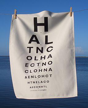 Eye Test Tea Towel