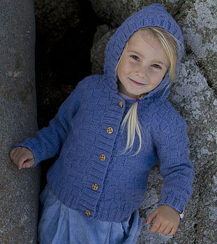 Girl's Merino Pixie Hooded Cardigan