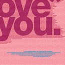 I Love You pink detail